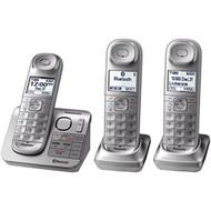 Panasonic KX-TGL463S DECT 6.0 3-HANDSET Landline Telephone Silver & - EE672190