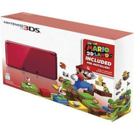 Portable Nintendo 3DS Holiday Bundle Flame Red With Super Mario 3D - ZZ672262
