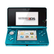 Portable Nintendo 3DS Aqua Blue Handheld Console - ZZ672267