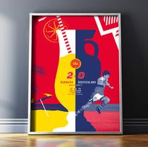 Sunshine Superstars Football Print