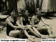 1940s stock footage - learning how to swim 1 on DVD