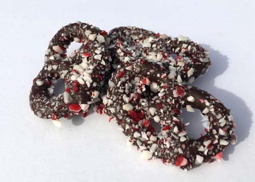 Peppermint Chocolate Pretzels