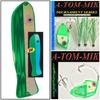 """13"""" Oki Kingfisher/A-TOM-MIK Combo's Green Casper/Green Glow Meat Rig (3 pcs)"""