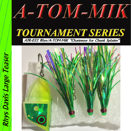 "ATR-032 Rhys/A-TOM-MIK ""Chartreuse Ice Chunk Splatter"" Meat Rig"