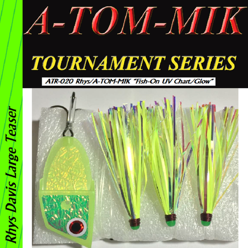 "ATR-020 Rhys/A-TOM-MIK ""Fish-On UV Chart. Glow"" Meat Rig"