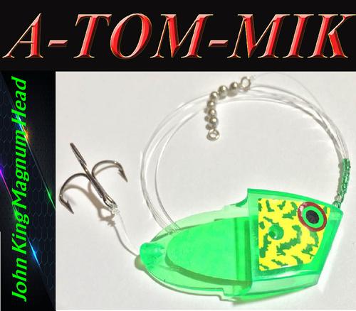 "Custom John King Magnum ""Chartreuse Frog"" Rigged"