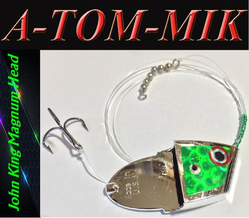 "Custom John King Magnum ""Green Chrome Scale"" Rigged"