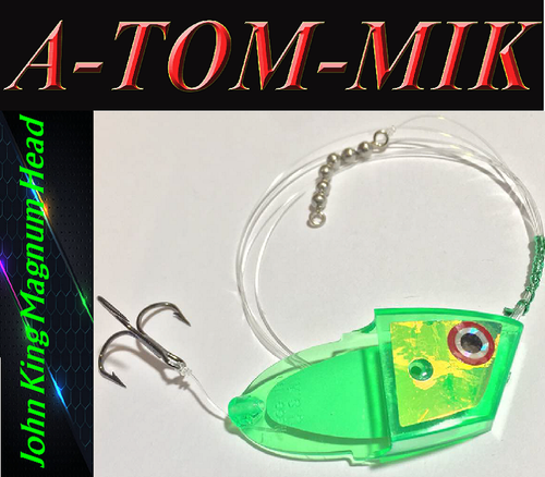 "Custom John King Magnum ""Green UV Trans"" Rigged"