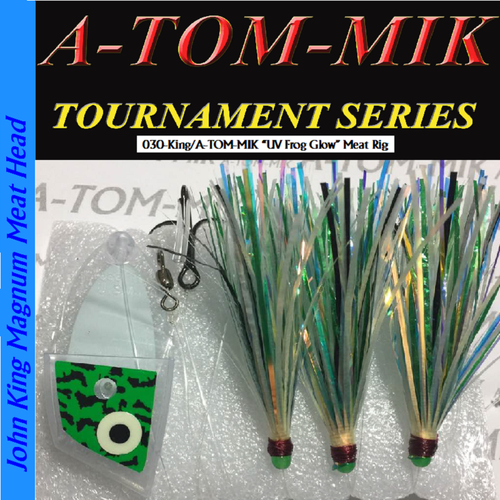 "030-King/A-TOM-MIK ""UV Glow Frog"" Meat Rig"