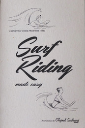 Surf Riding made easy vintage guide