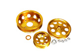 ISR Performance LIGHT WEIGHT PULLEY KIT - GOLD - SR20DET S13