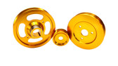 ISR Performance Aluminum Pulley Kit - Hyundai Genesis Coupe 2.0T  - Gold