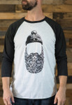 Faceless Bearded Man Baseball ¾ t-Shirt