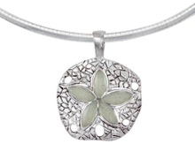 sand dollar, silver, necklace, white, siesta key beach, pendant