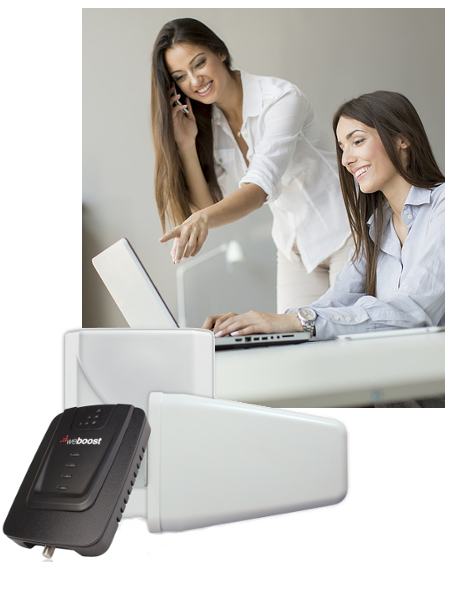 Women on Cell Phone weBoost Signal Booster