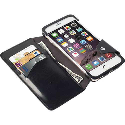 Black iPhone 6 Plus Wallet Case by Krusell