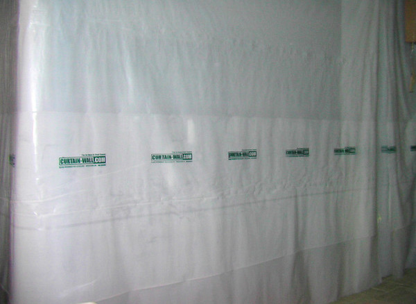 Plastic Curtain Wall : Flame retardant poly sheeting by toollab fits cw