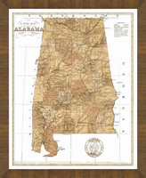 Old Map of Alabama