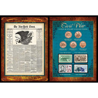 NY Times Civil War Coin & Stamp Set