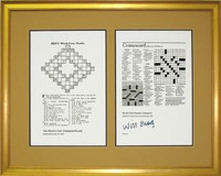 Crossword Puzzles Framed Art