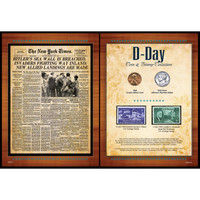 NY Times D-Day Stamp & Coin Set