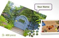 Garden Gate Personalized Jigsaw Puzzle