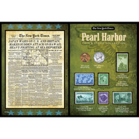 NY Times Pearl Harbor Stamp & Coin Set