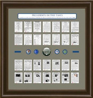 Presidential History Framed Art & Artifacts from the New York Times
