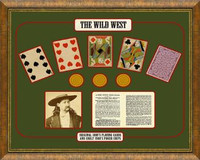 Wild West Gambling Framed Art and Artifacts