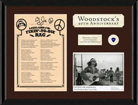 Woodstock Plaque Signed by Country Joe
