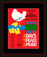 Signed Woodstock Poster