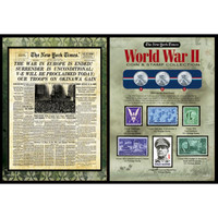 NY Times World War 2 Coin & Stamp Set