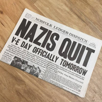 Germany Surrenders Newspaper
