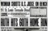 Babe Ruth 60th Home Run Historic Newspaper