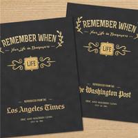 Remember When Newspaper Books
