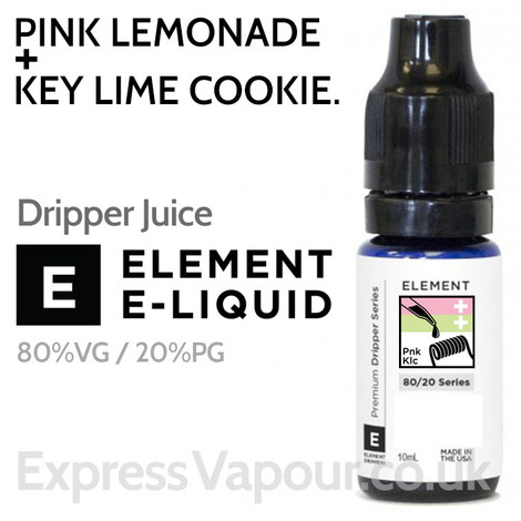 Pink Lemonade + Key Lime Cookie - ELEMENT 80% VG Dripper e-Liquid - 10ml