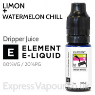 Limon + Watermelon Chill - ELEMENT 80% VG Dripper e-Liquid - 10ml