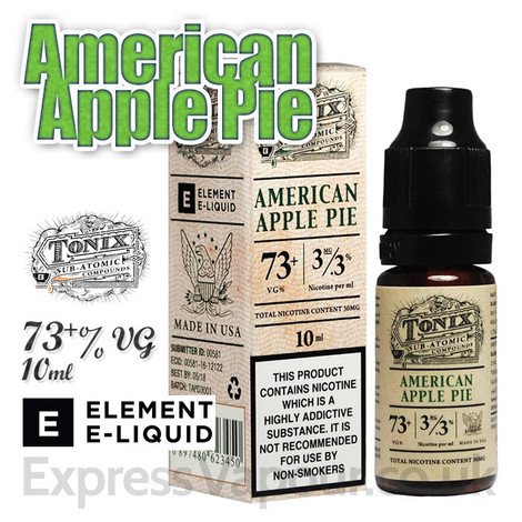 American Apple Pie - Tonix e-liquids by ELEMENT - 73% VG - 10ml