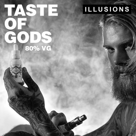 TASTE OF GODS by Illusions e-liquid - 80% VG - 30ml