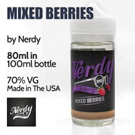 Mixed Berries - by Nerdy eJuice - 70% VG - 80ml