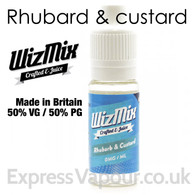 Rhubarb and Custard - by WizMix e-liquid - 50% VG - 10ml