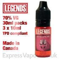 Avalanche - LEGENDS e-liquid - 70% VG - 30ml