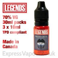 Frost Bite - LEGENDS e-liquid - 70% VG - 30ml