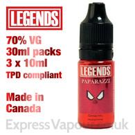Paparazzi - LEGENDS e-liquid - 70% VG - 30ml