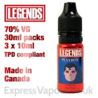 Playboy - LEGENDS e-liquid - 70% VG - 30ml