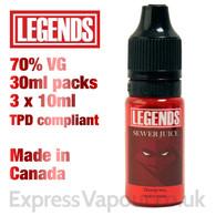 Sewer Juice - LEGENDS e-liquid - 70% VG - 30ml