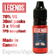 Slayer - LEGENDS e-liquid - 70% VG - 30ml