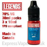 Tsunami - LEGENDS e-liquid - 70% VG - 30ml