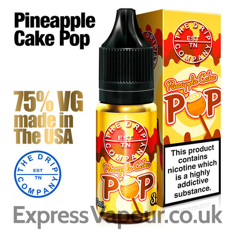 PINEAPPLE CAKE POP - The Drip Company e-liquids - 75% VG - 10ml