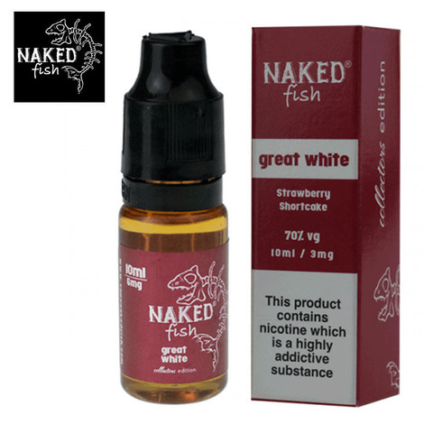 Great White - Naked Fish e-liquids 70% VG 10ml